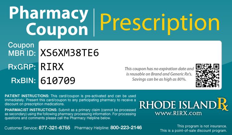 Rhode Island Rx Card - Free Prescription Drug Coupon Card